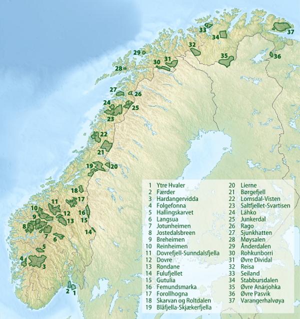 Nasjonalparker_i_Norge