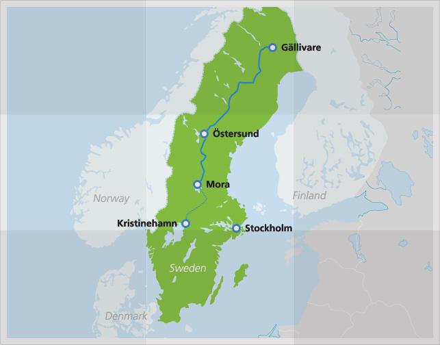 Lappland Karte.Inlandsbanan Von Värmland Bis Lappland Skandaktiv Info